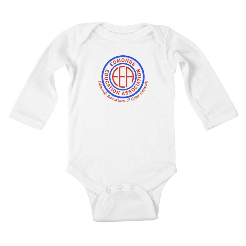 Edmonds EA Seal-Edmonds Educators of Color Network Kids Baby Longsleeve Bodysuit by Edmonds Education Association Swag Shop
