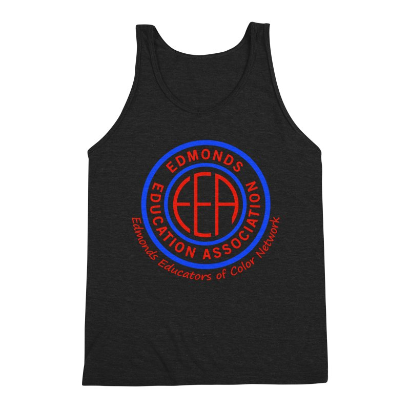 Edmonds EA Seal-Edmonds Educators of Color Network Men's Triblend Tank by Edmonds Education Association Swag Shop