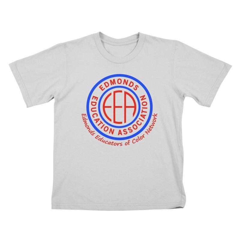 Edmonds EA Seal-Edmonds Educators of Color Network Kids T-Shirt by Edmonds Education Association Swag Shop
