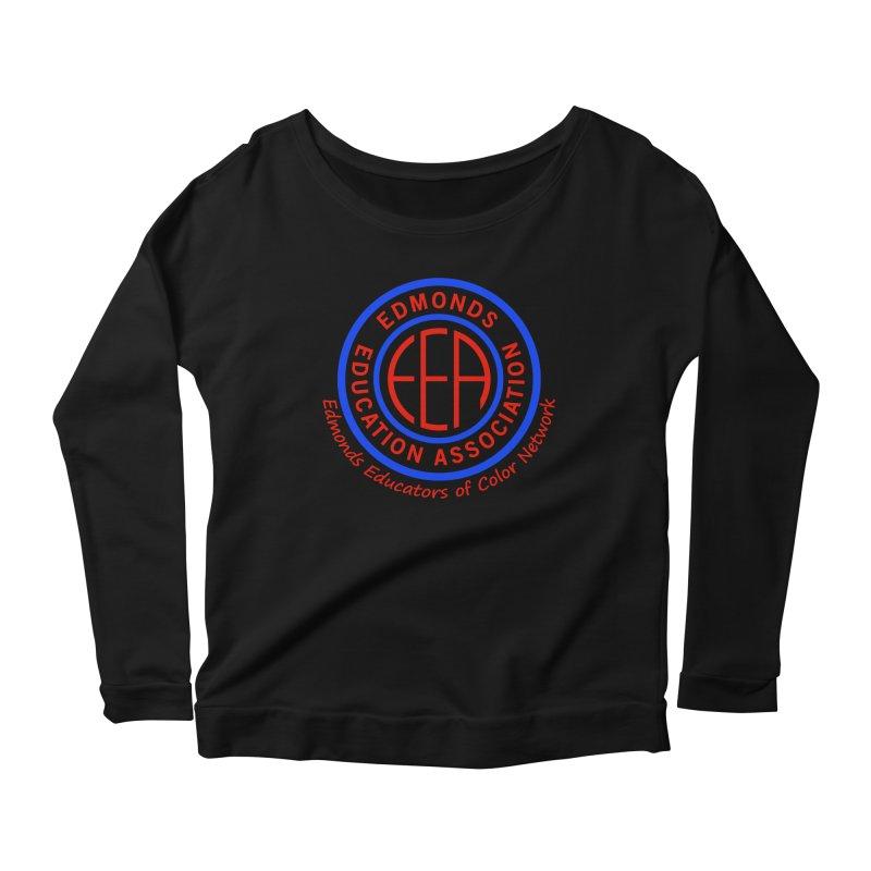 Edmonds EA Seal-Edmonds Educators of Color Network Women's Scoop Neck Longsleeve T-Shirt by Edmonds Education Association Swag Shop