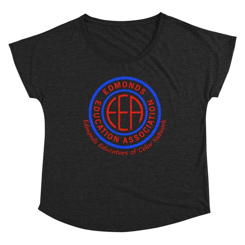Edmonds EA Seal-Edmonds Educators of Color Network Women's Dolman Scoop Neck by Edmonds Education Association Swag Shop
