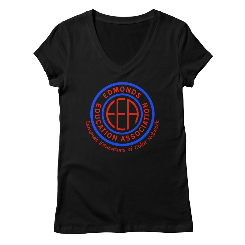 Edmonds EA Seal-Edmonds Educators of Color Network Women's V-Neck by Edmonds Education Association Swag Shop