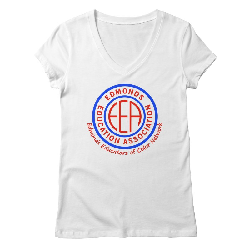 Edmonds EA Seal-Edmonds Educators of Color Network Women's Regular V-Neck by Edmonds Education Association Swag Shop