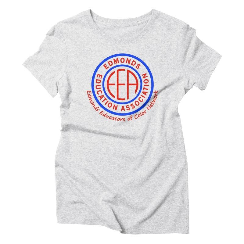 Edmonds EA Seal-Edmonds Educators of Color Network Women's Triblend T-Shirt by Edmonds Education Association Swag Shop