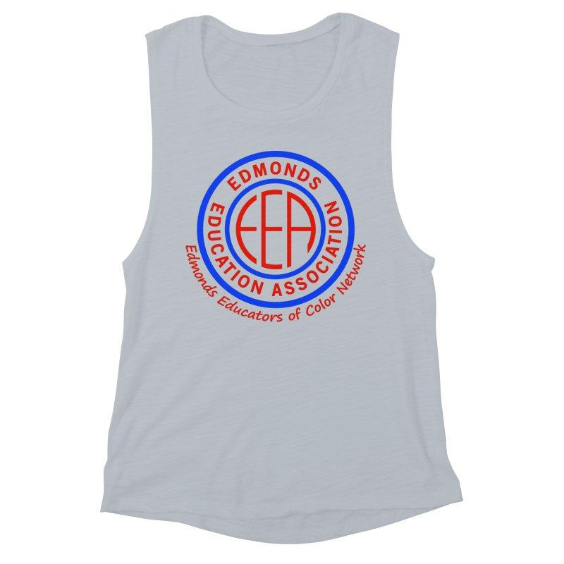 Edmonds EA Seal-Edmonds Educators of Color Network Women's Muscle Tank by Edmonds Education Association Swag Shop