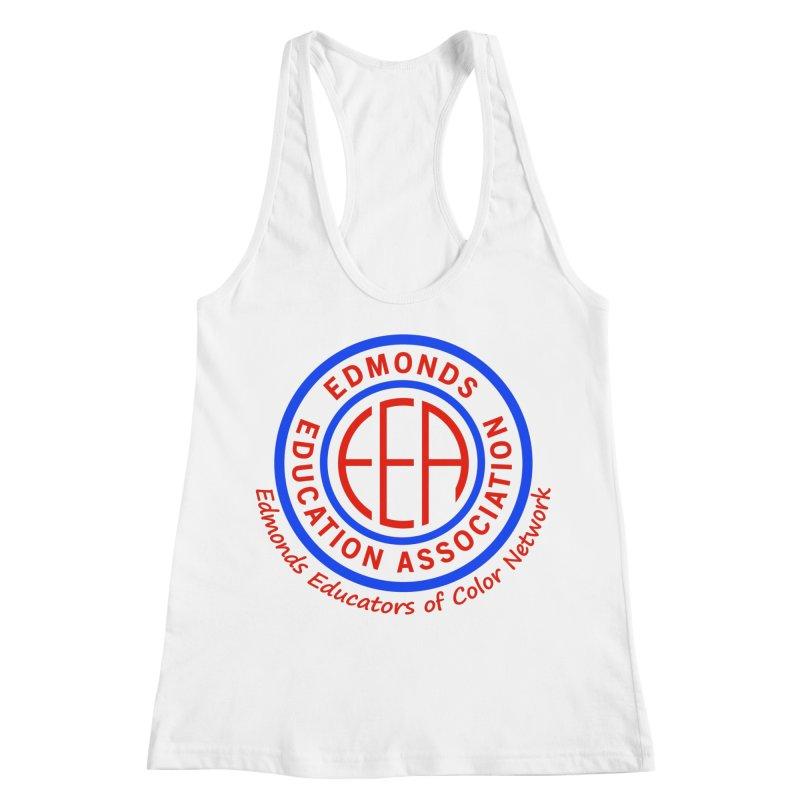 Edmonds EA Seal-Edmonds Educators of Color Network Women's Racerback Tank by Edmonds Education Association Swag Shop