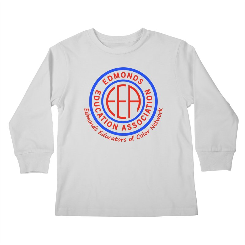 Edmonds EA Seal-Edmonds Educators of Color Network Kids Longsleeve T-Shirt by Edmonds Education Association Swag Shop