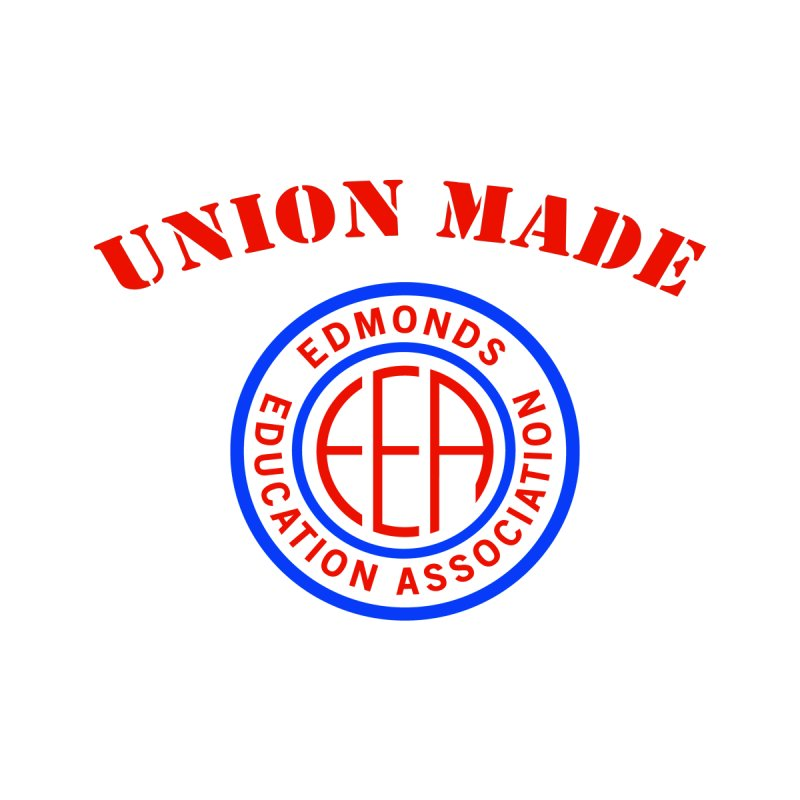 Edmonds EA Seal-Union Made Men's T-Shirt by Edmonds Education Association Swag Shop