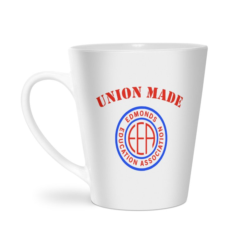 Edmonds EA Seal-Union Made Accessories Latte Mug by Edmonds Education Association Swag Shop