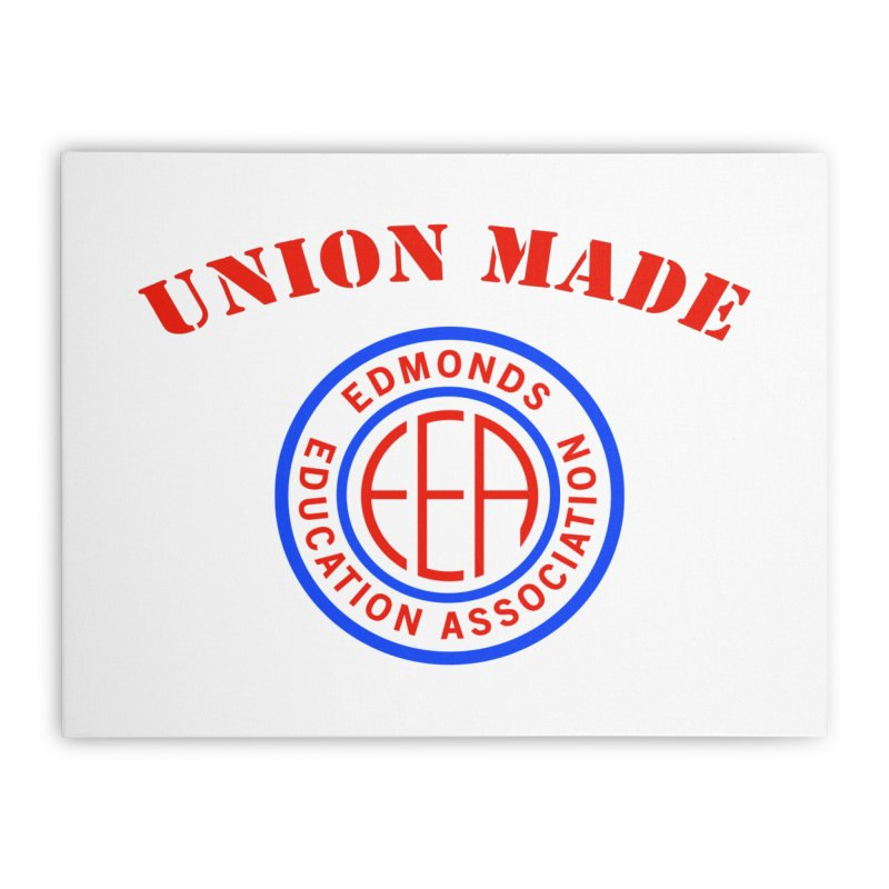 Edmonds EA Seal-Union Made Home Stretched Canvas by Edmonds Education Association Swag Shop