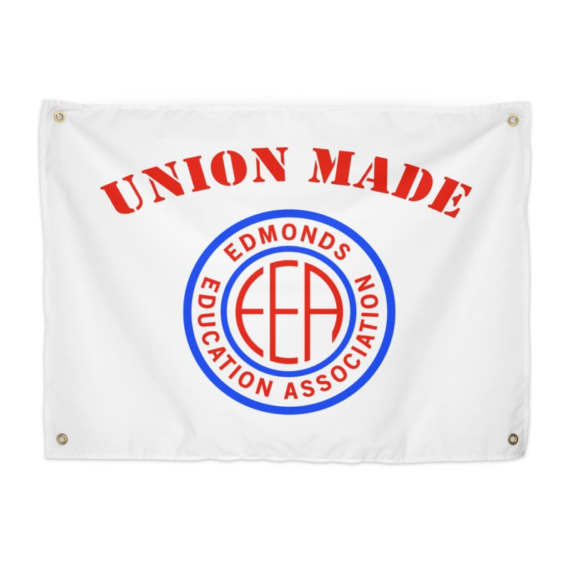 Edmonds EA Seal-Union Made Home Tapestry by Edmonds Education Association Swag Shop