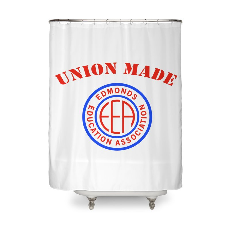 Edmonds EA Seal-Union Made Home Shower Curtain by Edmonds Education Association Swag Shop