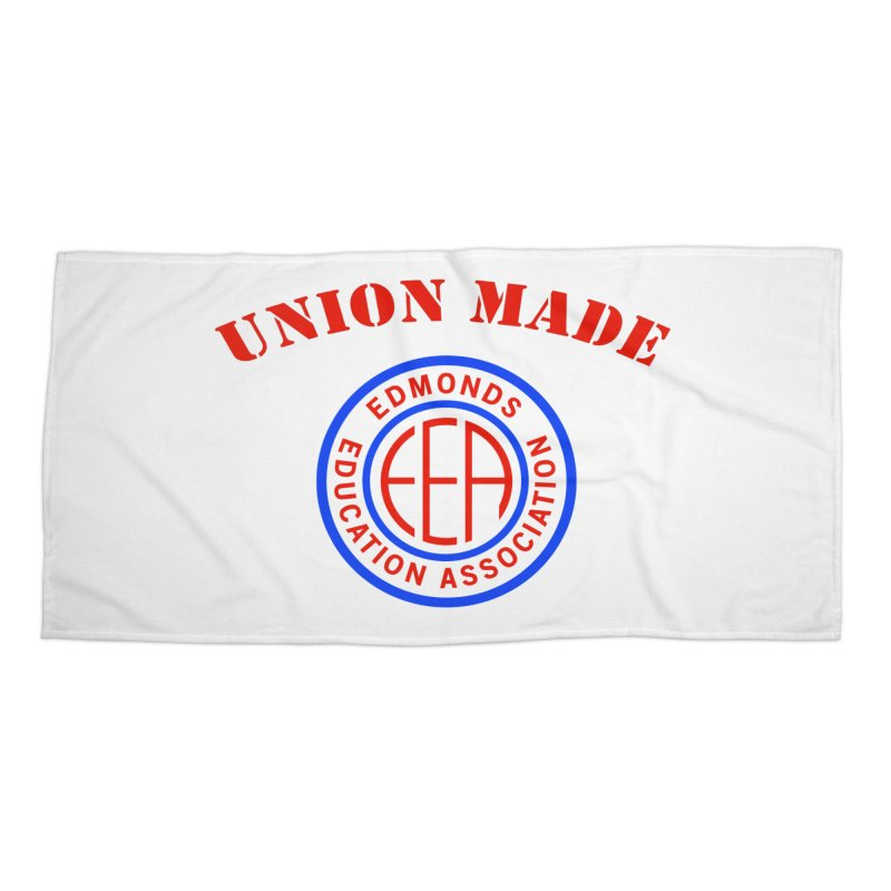 Edmonds EA Seal-Union Made Accessories Beach Towel by Edmonds Education Association Swag Shop