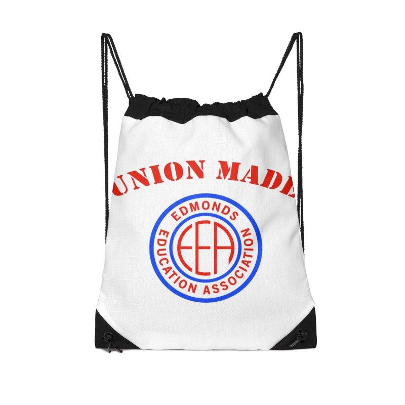 Edmonds EA Seal-Union Made Accessories Drawstring Bag Bag by Edmonds Education Association Swag Shop
