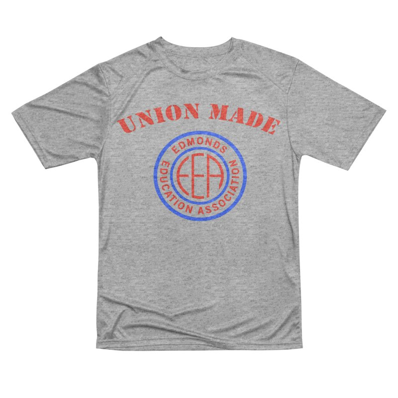 Edmonds EA Seal-Union Made Men's Performance T-Shirt by Edmonds Education Association Swag Shop