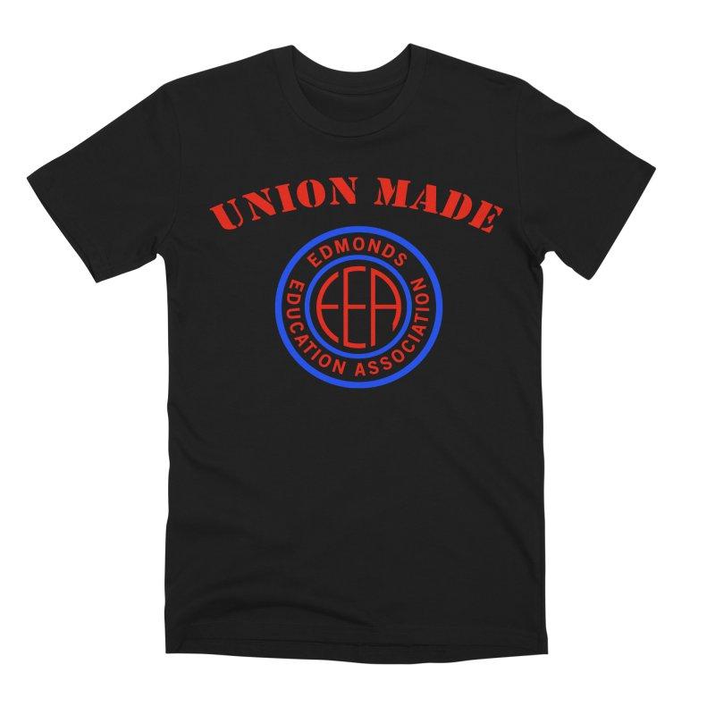Edmonds EA Seal-Union Made Men's Premium T-Shirt by Edmonds Education Association Swag Shop