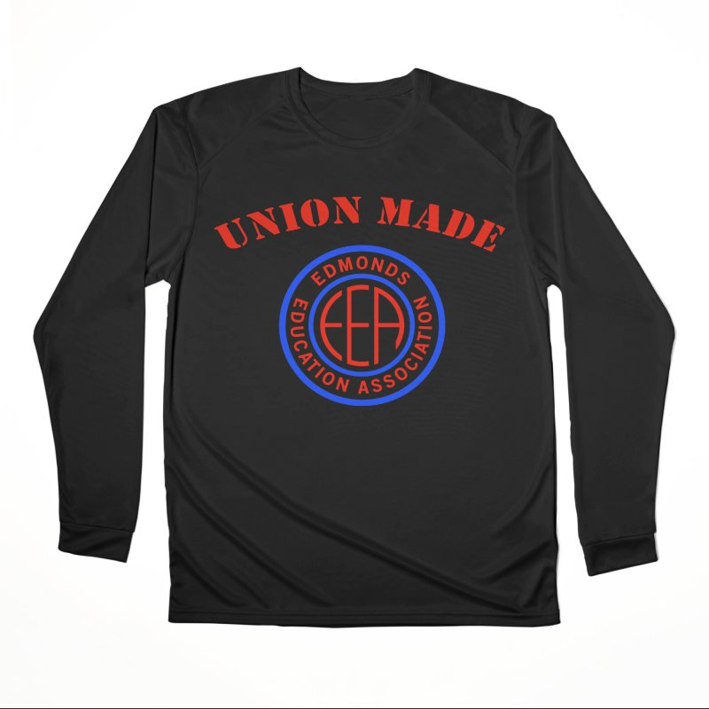 Edmonds EA Seal-Union Made Men's Performance Longsleeve T-Shirt by Edmonds Education Association Swag Shop