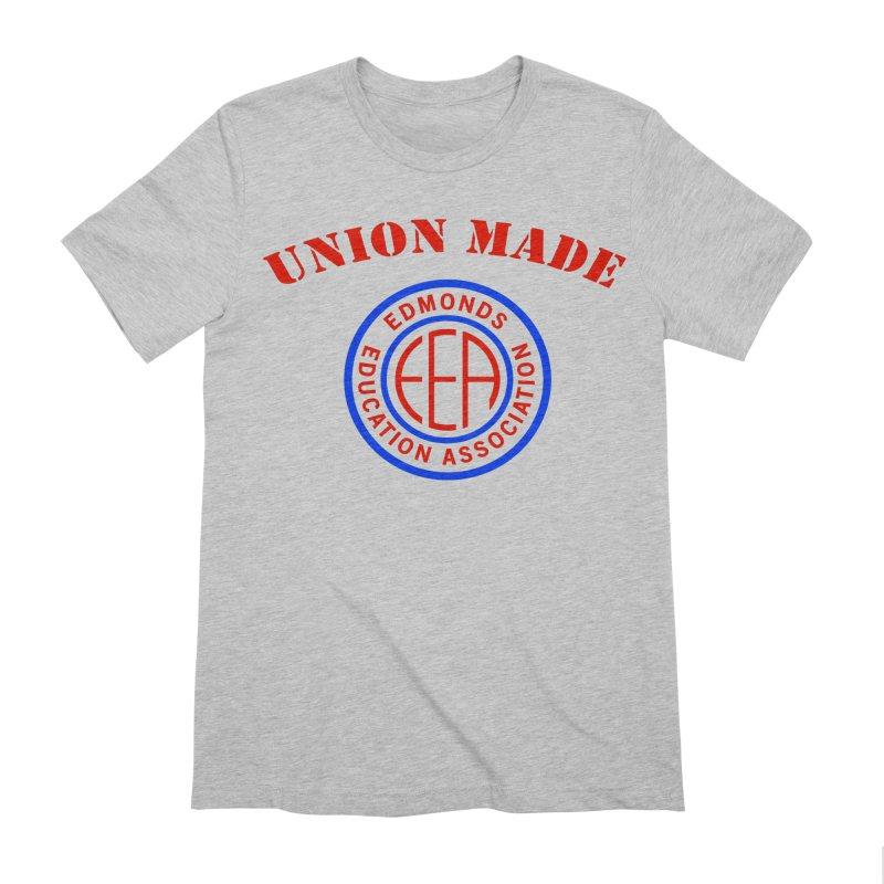 Edmonds EA Seal-Union Made Men's Extra Soft T-Shirt by Edmonds Education Association Swag Shop