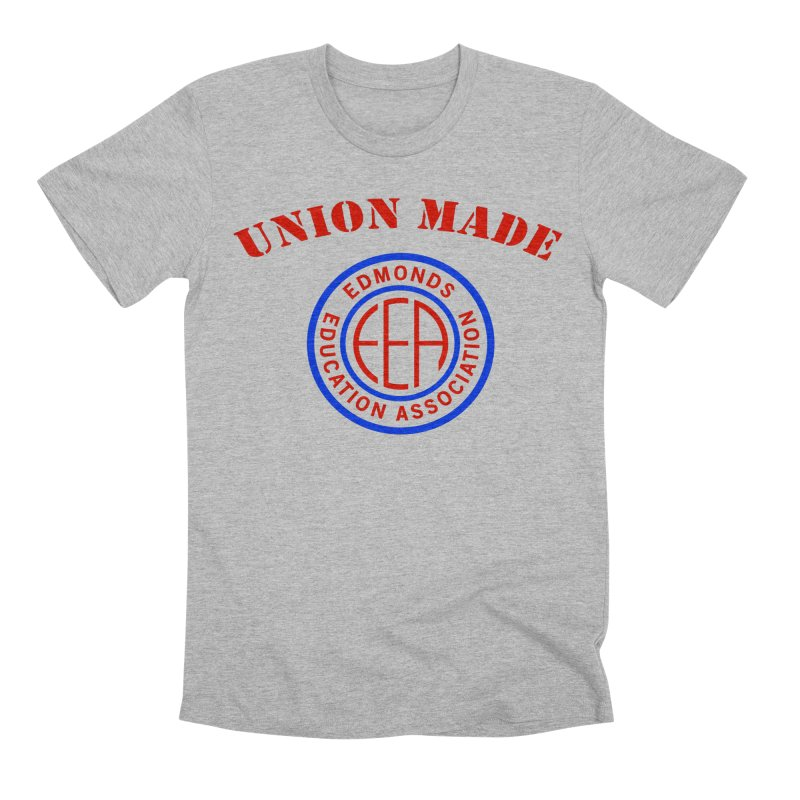 Edmonds EA Seal-Union Made Men's Premium T-Shirt by Edmonds Education Association Swag Shop