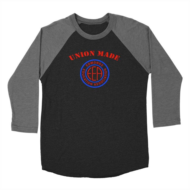 Edmonds EA Seal-Union Made Women's Baseball Triblend Longsleeve T-Shirt by Edmonds Education Association Swag Shop
