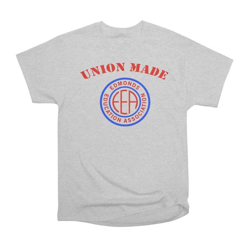 Edmonds EA Seal-Union Made Men's Heavyweight T-Shirt by Edmonds Education Association Swag Shop