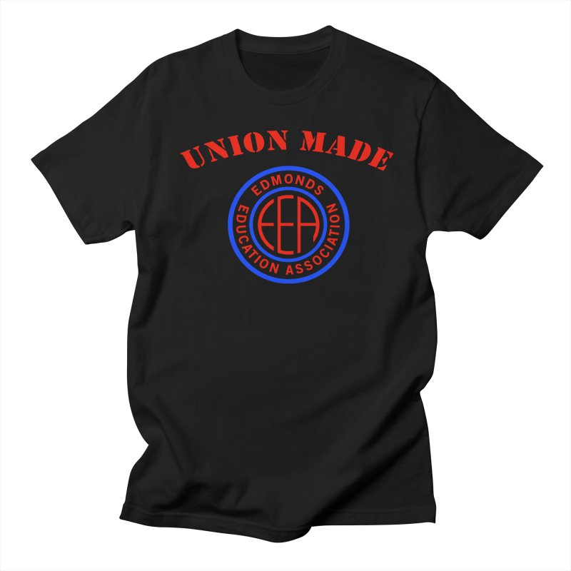 Edmonds EA Seal-Union Made Men's Regular T-Shirt by Edmonds Education Association Swag Shop
