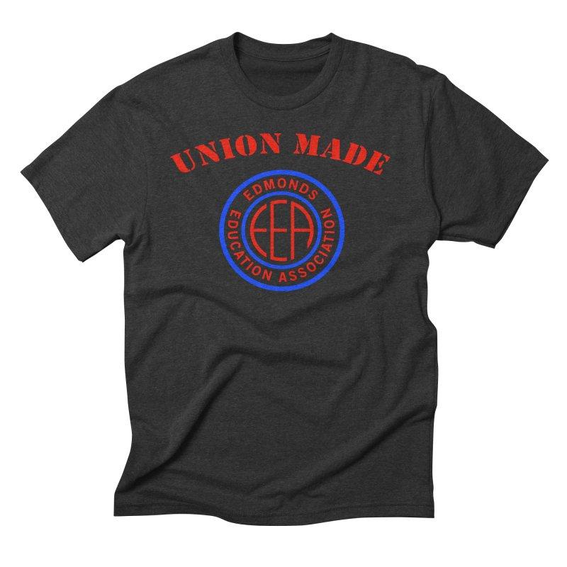 Edmonds EA Seal-Union Made Men's Triblend T-Shirt by Edmonds Education Association Swag Shop