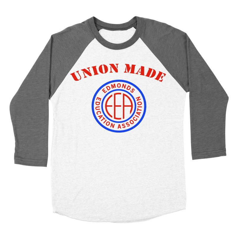 Edmonds EA Seal-Union Made Women's Baseball Triblend Longsleeve T-Shirt by Edmonds Education Association Swag Shop
