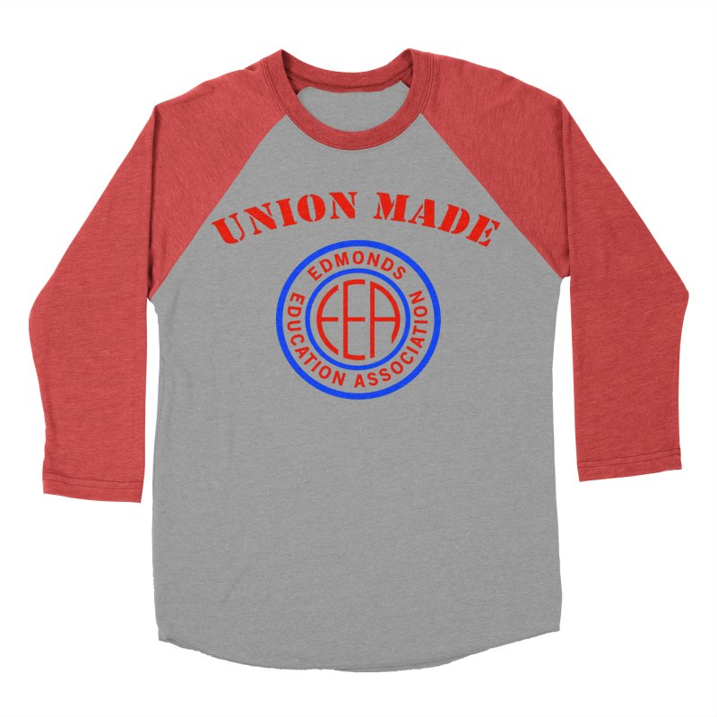 Edmonds EA Seal-Union Made Men's Baseball Triblend Longsleeve T-Shirt by Edmonds Education Association Swag Shop