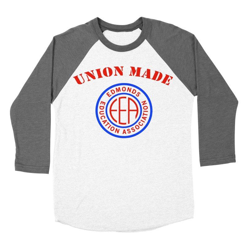Edmonds EA Seal-Union Made Men's Baseball Triblend Longsleeve T-Shirt by Edmonds Education Association Swag Shop