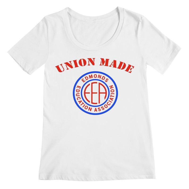 Edmonds EA Seal-Union Made Women's Regular Scoop Neck by Edmonds Education Association Swag Shop