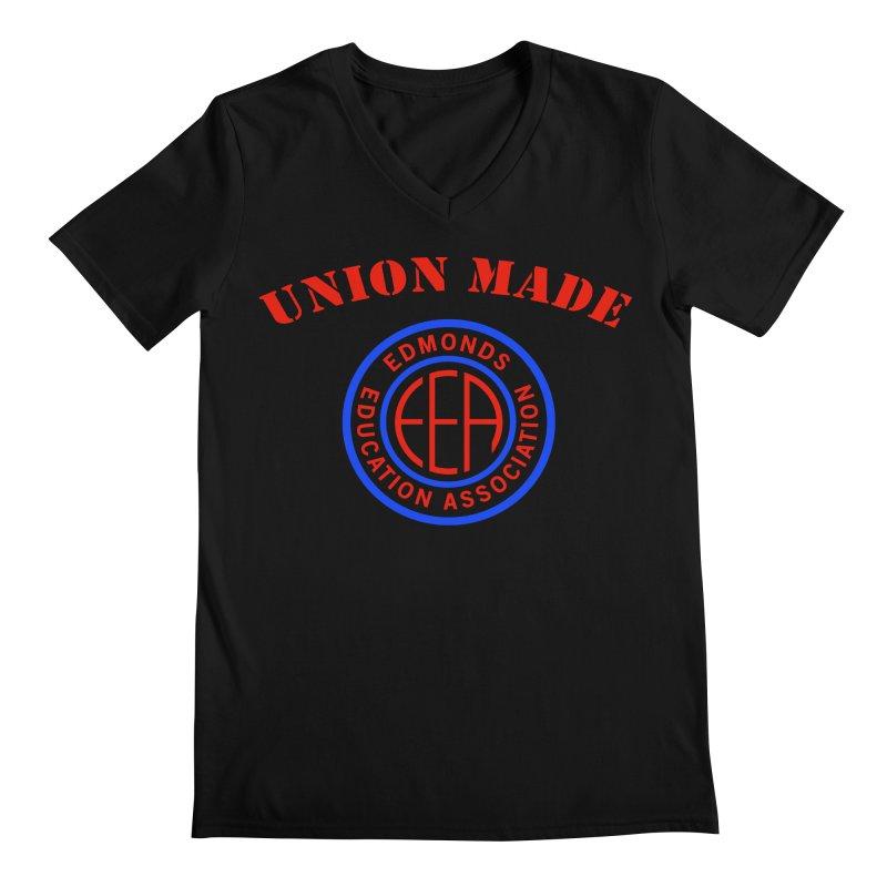 Edmonds EA Seal-Union Made Men's Regular V-Neck by Edmonds Education Association Swag Shop