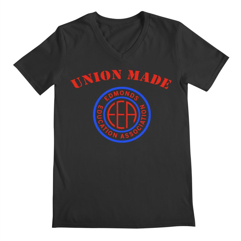 Edmonds EA Seal-Union Made Men's Regular V-Neck by Edmonds Education Association Swag Shop