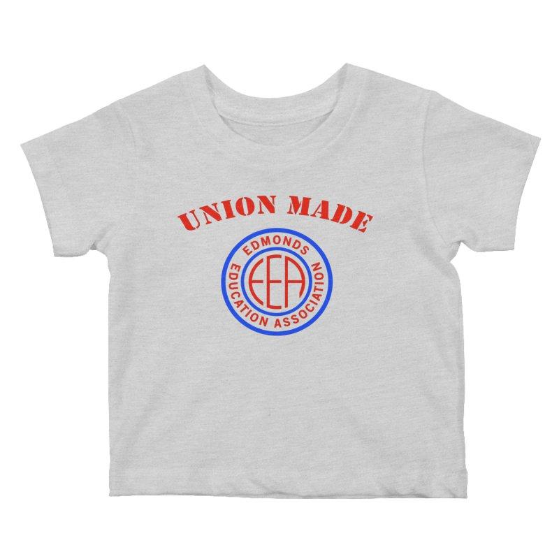 Edmonds EA Seal-Union Made Kids Baby T-Shirt by Edmonds Education Association Swag Shop
