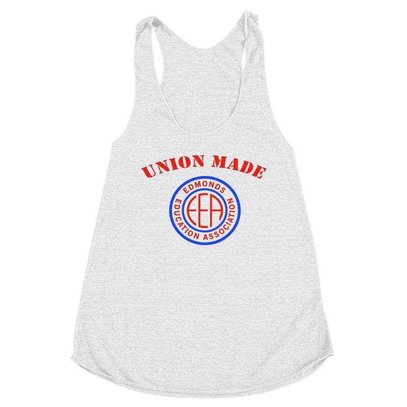 Edmonds EA Seal-Union Made Women's Racerback Triblend Tank by Edmonds Education Association Swag Shop