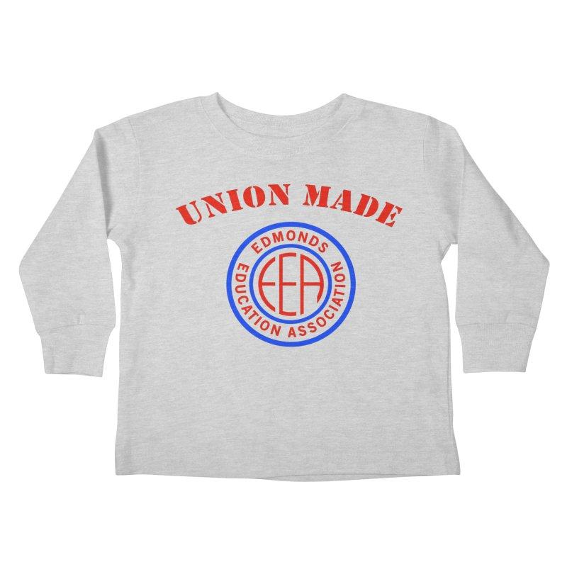 Edmonds EA Seal-Union Made Kids Toddler Longsleeve T-Shirt by Edmonds Education Association Swag Shop