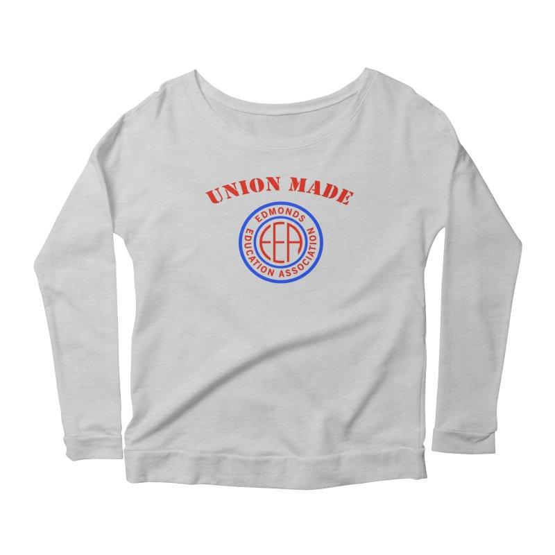 Edmonds EA Seal-Union Made Women's Scoop Neck Longsleeve T-Shirt by Edmonds Education Association Swag Shop