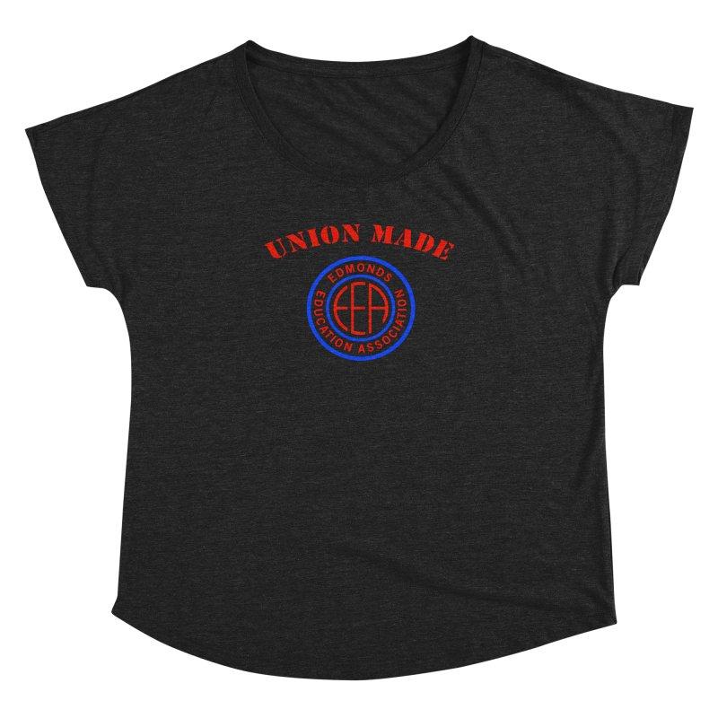 Edmonds EA Seal-Union Made Women's Dolman Scoop Neck by Edmonds Education Association Swag Shop
