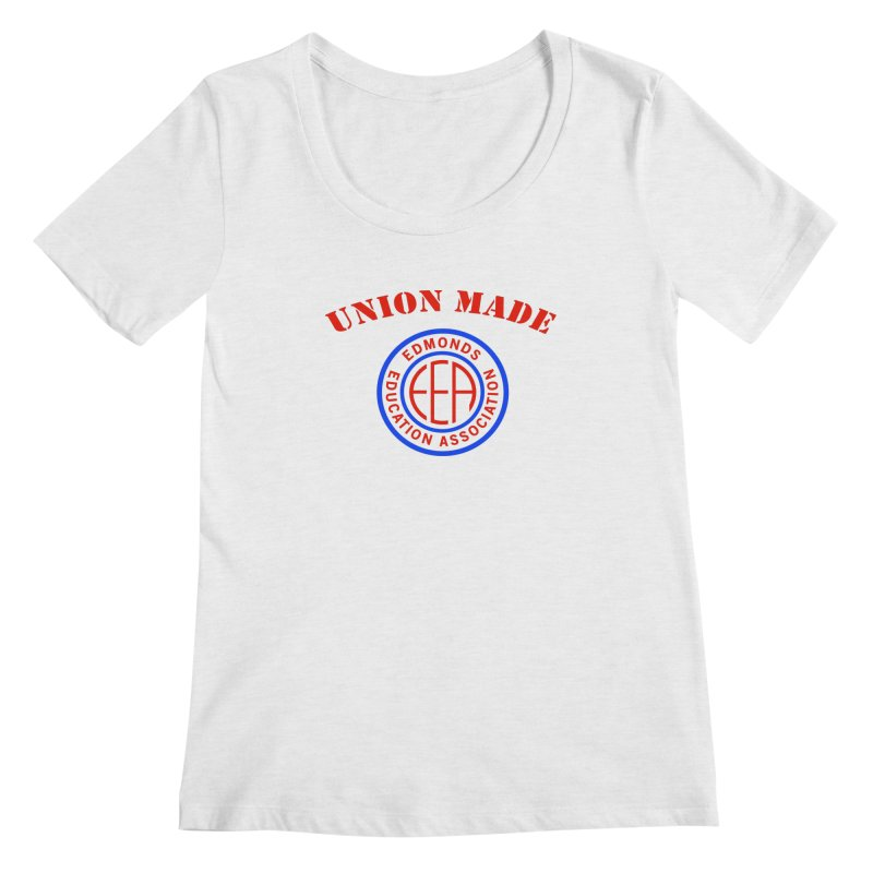 Edmonds EA Seal-Union Made Women's Regular Scoop Neck by Edmonds Education Association Swag Shop