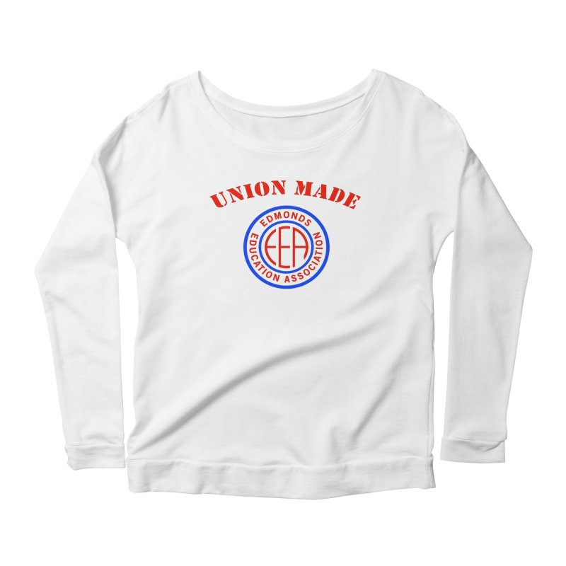Edmonds EA Seal-Union Made Women's Scoop Neck Longsleeve T-Shirt by Edmonds Education Association Swag Shop