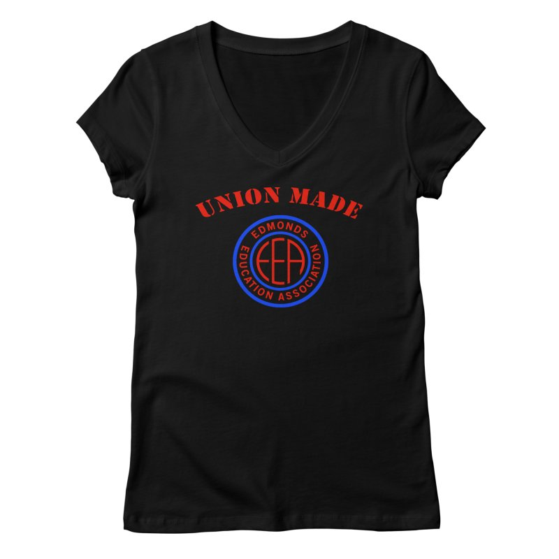 Edmonds EA Seal-Union Made Women's V-Neck by Edmonds Education Association Swag Shop