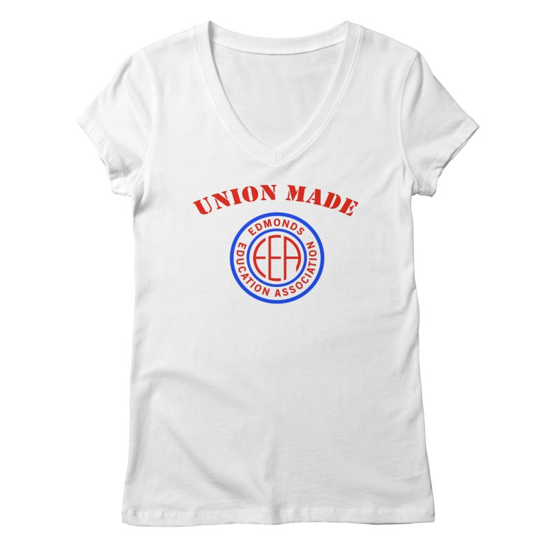 Edmonds EA Seal-Union Made Women's Regular V-Neck by Edmonds Education Association Swag Shop