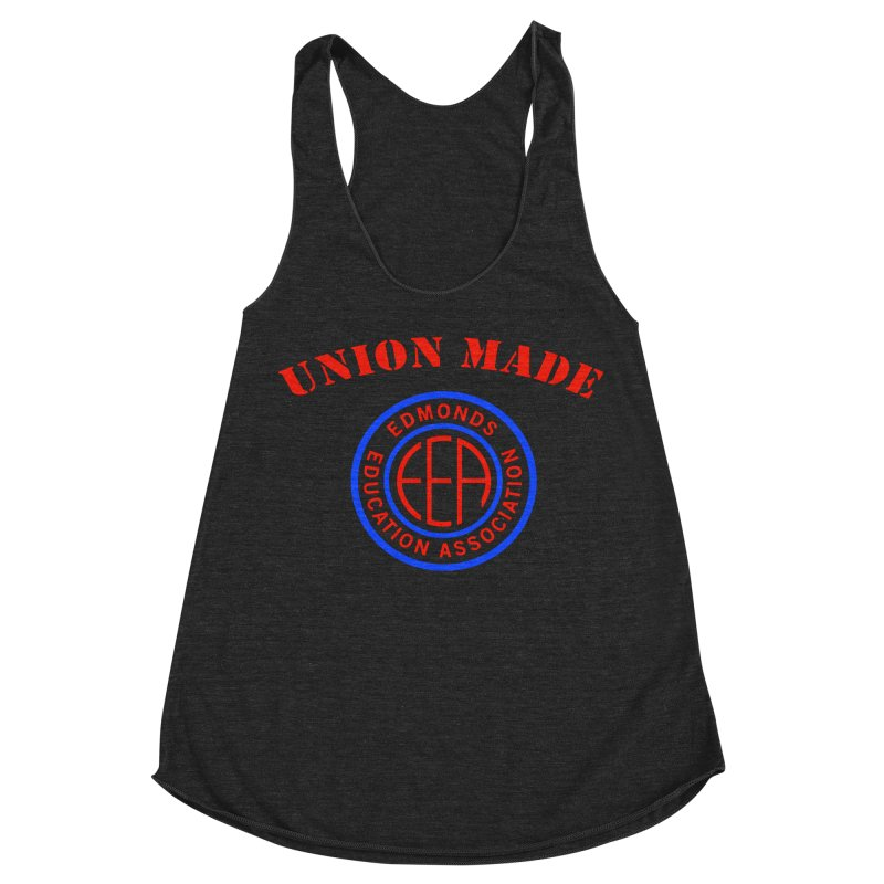 Edmonds EA Seal-Union Made Women's Racerback Triblend Tank by Edmonds Education Association Swag Shop