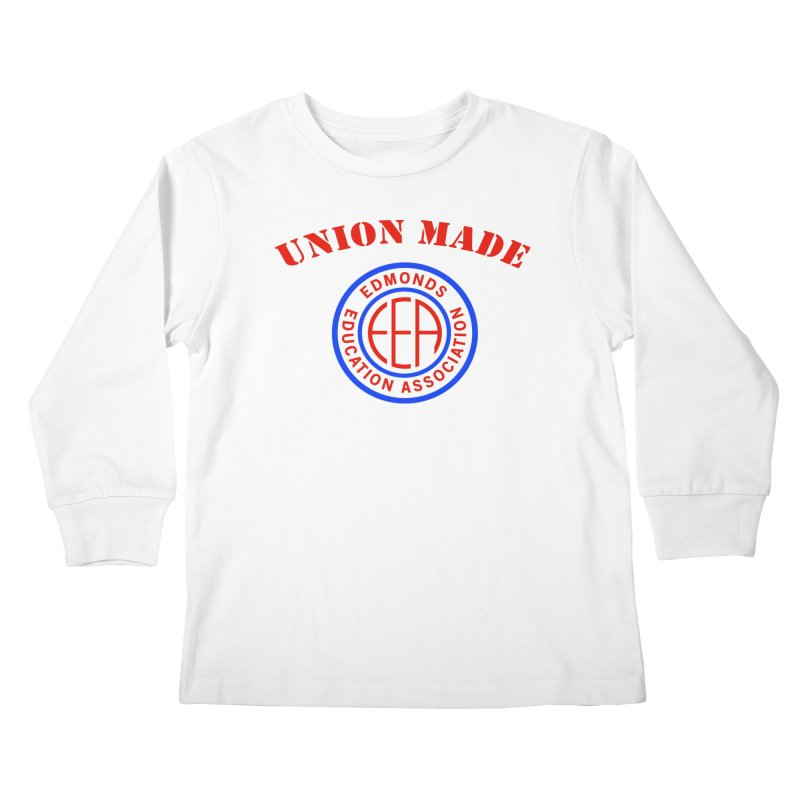 Edmonds EA Seal-Union Made Kids Longsleeve T-Shirt by Edmonds Education Association Swag Shop