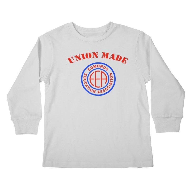 Edmonds EA Seal-Union Made Kids Longsleeve T-Shirt by Edmonds Education Association Swag Shop