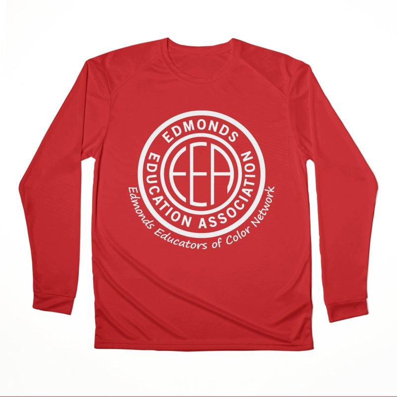 Edmonds EA Seal White-Edmonds Educators of Color Network Women's Performance Unisex Longsleeve T-Shirt by Edmonds Education Association Swag Shop
