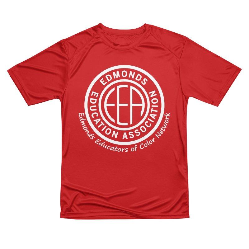 Edmonds EA Seal White-Edmonds Educators of Color Network Men's Performance T-Shirt by Edmonds Education Association Swag Shop