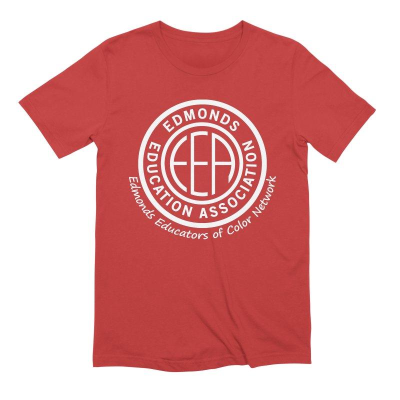 Edmonds EA Seal White-Edmonds Educators of Color Network Men's Extra Soft T-Shirt by Edmonds Education Association Swag Shop