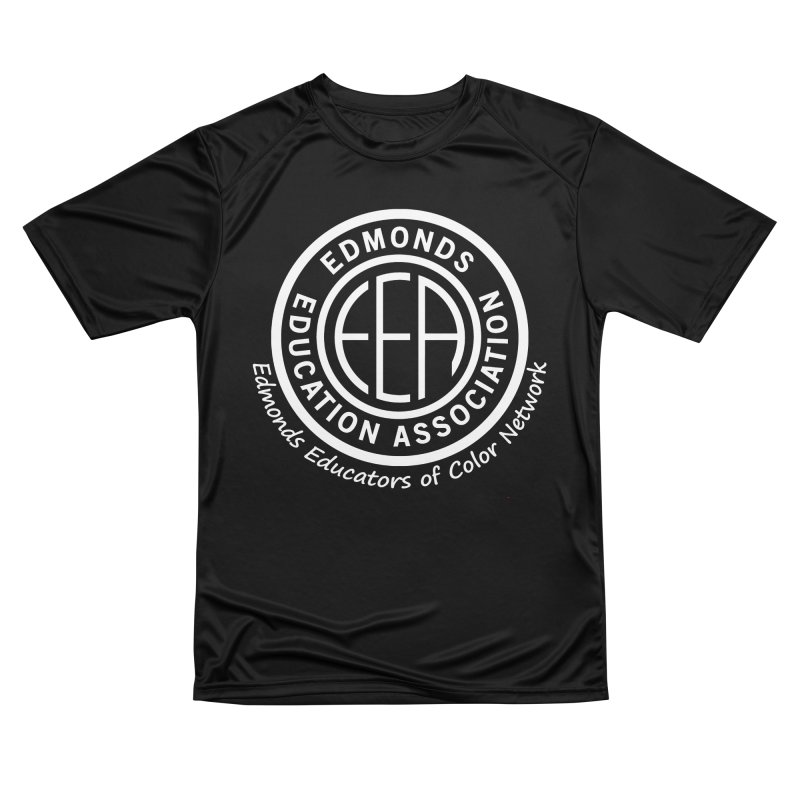 Edmonds EA Seal White-Edmonds Educators of Color Network Women's Performance Unisex T-Shirt by Edmonds Education Association Swag Shop