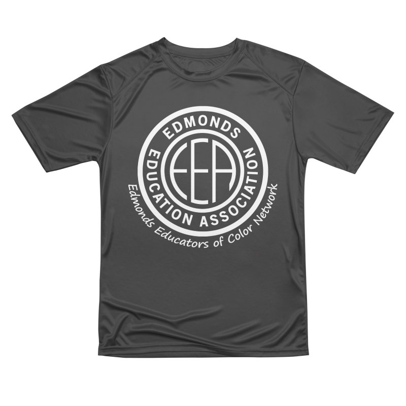 Edmonds EA Seal White-Edmonds Educators of Color Network Men's Performance T-Shirt by Edmonds Education Association Swag Shop
